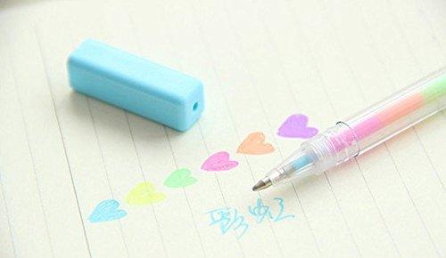 1PCS mit sechs Farbe Gel Pens, Gradient Farbe Stift, Zeichen Stifte, Bling-Roller Stifte, Maker...