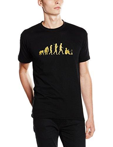 Shirtzshop Gold Edition Shisha II acqua Tubo di fumo Evolution Maglietta nero