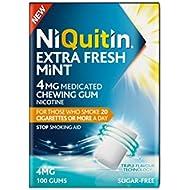 NiQuitin Extra Fresh Mint Gum, 4 mg, 100 Gums