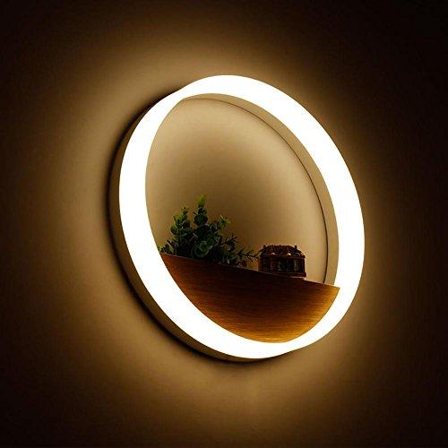 XYDM Modernes Creative LED Wandlampe Acryl Eisen Indoor Kreisförmig Gang Schlafzimmer Nachttisch Wandleuchten Dekoration (Kreisförmige Lampenschirme)