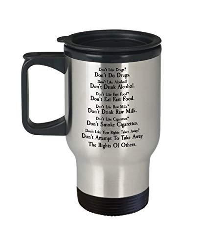 EstherBur87 Libertarian Coffee Mug Libertarian Gift Lustige politische Tasse Bill of Rights Bürgerrechte Gun Rechte AntiGovernment Travel Mug