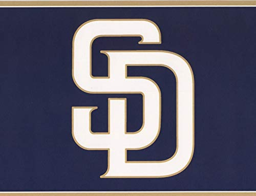 an Diego Padres MLB Baseball Team Sportfan Wallpaper Border Modern Design, Roll-15' x 6'' ()