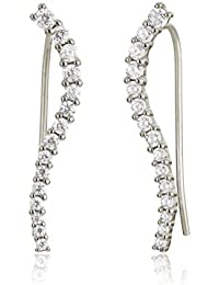 Ingenious Jewellery Donna  925  argento Rotonda   trasparente  FINEEARRING