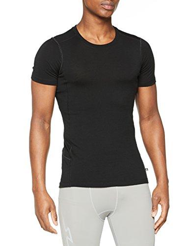 Odlo Damen SUW TOP Crew Neck s/s Natural 100% Merino WARM Unterhemd, Black, XS | 07613361123405