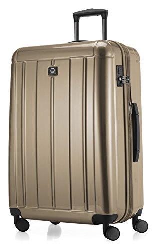 HAUPTSTADTKOFFER - Kotti Glänzend - Hartschalenkoffer Trolley Rollkoffer Reisekoffer Erweiterbar, TSA, Doppelrollen, 76 cm, 120 Liter, Gold