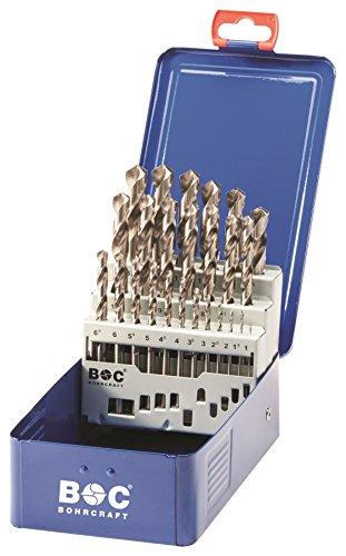 Bohrcraft Spiralbohrer Set HSS-G in Industriekassette MG13/Ø 1-13 x 0,5 mm/25-teilig/1120 13 10025