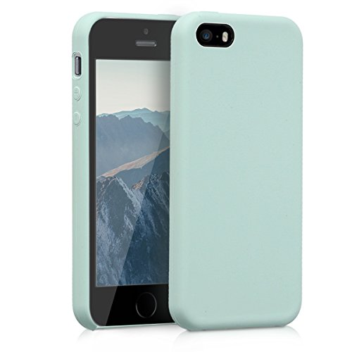 kwmobile Hülle für Apple iPhone SE/5/5S - TPU Silikon Backcover Case Handy Schutzhülle - Cover Mintgrün matt