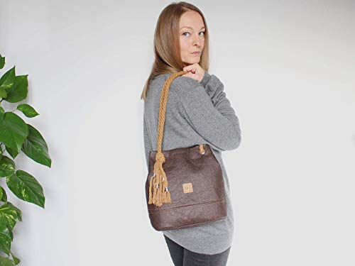 Braune Tasche aus Ananasfaser - Piñatex® - 3