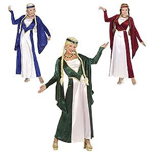 WIDMANN Widman - Disfraz de realeza reina medieval para niña, talla L (S/57783)