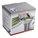 Westmark Thermo-Sauciere mit Klappdeckel, Füllvolumen: 0,5l, Rostfreier Edelstahl/Kunststoff, Silber, 62242260 - 6