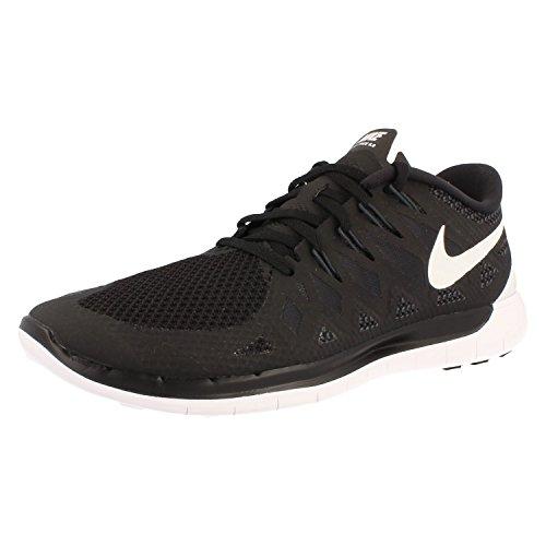 Nike - Free 5.0, pantofole per bambine e ragazze BLACK/SLVR-WHITE-LGHT ASH GRY
