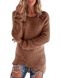 Amazon.it: maglione lana Marrone Donna: Abbigliamento