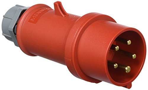 Preisvergleich Produktbild Mennekes 101200151Klinke EWG Pro Top, Steckdosen, 400V, 50–60Hz, 16A, 5-polig, IP 44, 1Verpackung, rot