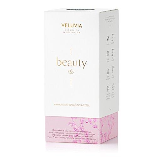 "Veluvia 06700 ""Beauty"" Vegan Nahrungsergänzungsmittel | Haut Haare Nägel | Vitamin A C B7 Zink Kupfer Selen | Superfoods | Schönheits Boost | Gesundes Erscheinungsbild | 2 x 30 Kapseln | 1 Monat"