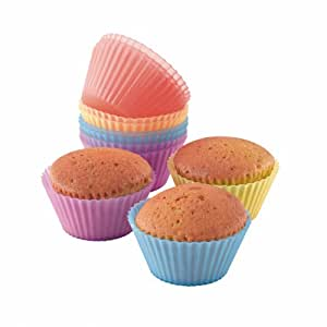 Domoclip MEN77 12 Moules Silicone à Cup Cake