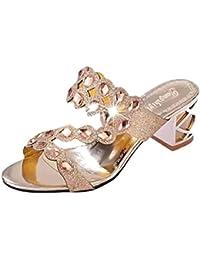 Artfaerie Damen Stiletto High Heels Riemchenpumps mit Spitze und Schnalle Pointed Toe Elegant Hochzeit Brautschuhe S4lOa