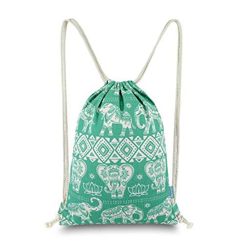 Miomao Gym Sackpack Drawstring Backpack Elephant Cinch Pack Geometric Sinch  Sack with Pockets Sport String Bag 9d7bbbac4eebd