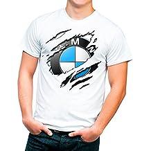 Tu la pintas Camiseta con Un Diseño de Las Letras BMW Dentro de La Nube