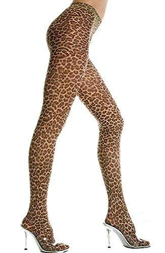 Medias de estampado de leopardo Marrón leopardo Talla única