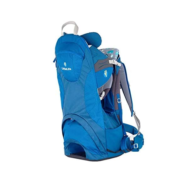 "LittleLife Unisex's Freedom S4 Child Carrier (blue) Back, One size LittleLife Anatomically shaped child seating area, with neck support and soft face pad Includes rear view mirror, sun shade and Foot stirrups Suitable for adults 1.57 - 1.87M/ 5'2"" - 6'4"" 3"