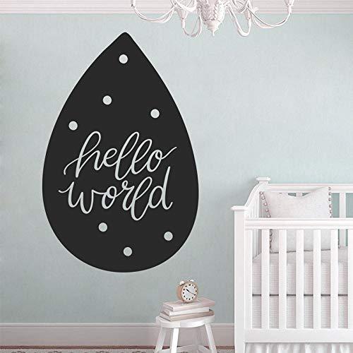 Hallo Welt Stil Wandtattoo Kindergarten Wand Vinyl Aufkleber Baby Dusche Typografie Wand Dekor Geschenk Für Baby 42X64CM