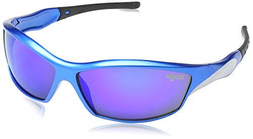 Ladgecom [ Ice ] Sports Sunglasses with Revo Lens, Hard Case, Cleaning Cloth & Head Strap
