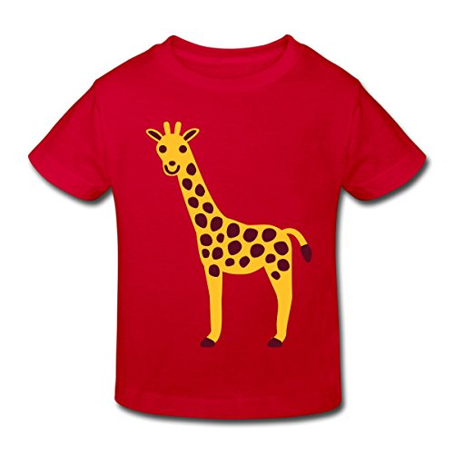 Spreadshirt Giraffe Kinder Bio-T-Shirt, 110/116 (5-6 Jahre), Rot -