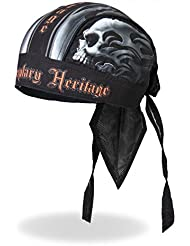 "Authentic Bikers Premium Headwraps, SKULL FACE, ""Legendary Heritage"" - High Quality HEADWRAP"