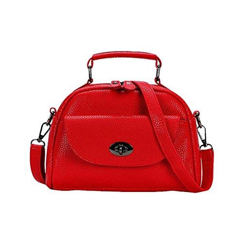 Wild Messenger Bag Einfache Schultertasche Handtasche Lässige Mode Atmosphäre Red