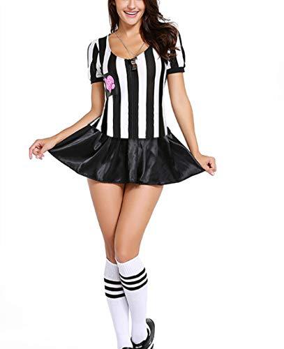 ichter Bekleidung My Rules Kostüm Sexy Sport schwarz gestreift ()