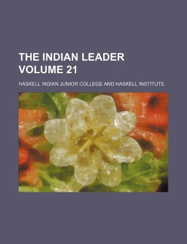 The Indian leader Volume 21