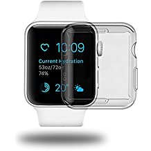 aceyoon Cover Apple Watch 42 mm 2 Pack Ultra Thin Clear TPU Custodia Apple Watch All-Around Protection Cover Case for i Watch Series 2 42mm Screen Protector
