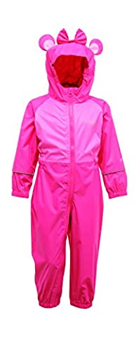 Regatta Girl's Charco All-in-One Suit - Jem/Pretty Pink, 6-12