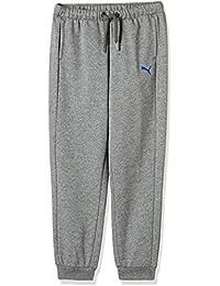 Puma–Pantalón para niño, deportivo, Niño, Jr Sport Sweat Pant.mgh, gris, 10 años (talla del fabricante: 140)