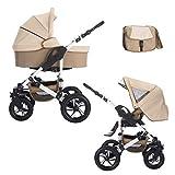Bebebi Florida | 2 in 1 passeggino con carrozzina modulari combinabili | ruote in gomma dura | Colore: Flocream