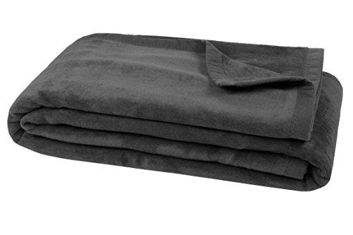 Zollner XXL Kuscheldecke Wolldecke grau 150x200 cm (weitere Farben und Größen verfügbar)