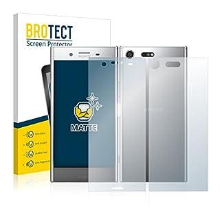 BROTECT Screen Protector Matte for Sony Xperia XZ Premium (Front + Back) Protection Film [2 Pack] - Anti-Glare, Anti-Reflex, Anti-Fingerprint
