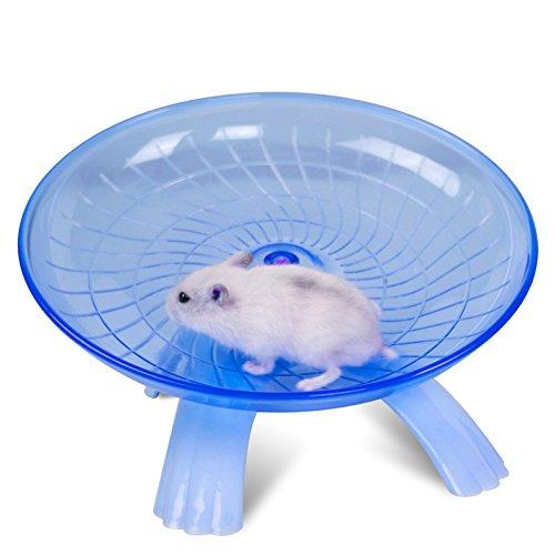 Lanlan 18cm/18cm Hamster Running Disc, Fliegen Untertasse Laufrad für kleine Haustiere, Komfort Pet Toys, blau