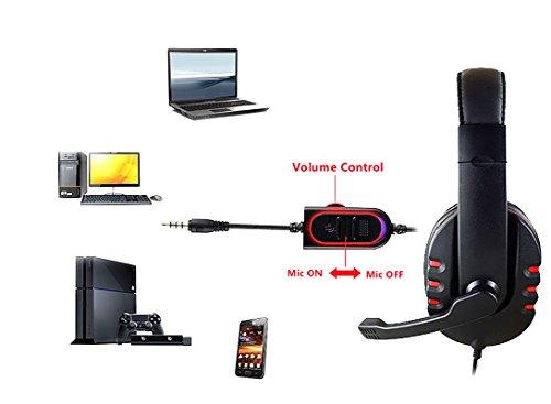 Etpark Auriculares Gaming   3.5mm Cancelación De Ruido Gaming Headset  juego auriculares con micrófono para nueva Xbox One PS4 portátil Mac Tablet iPhone iPad iPod