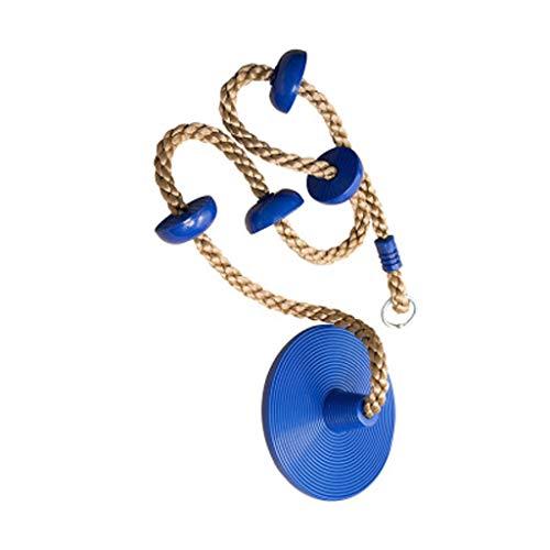 nde rote Kunststoff Seil Platte Schaukel Disc Monkey Sitz hängen Outdoor Spielzeug Garten Montage (Color : Blue) ()