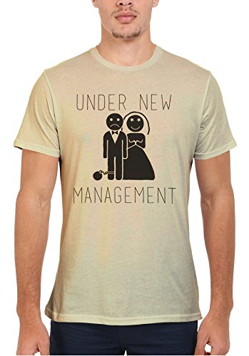Under New Management Married Game Over Men Women Damen Herren Unisex Top T Shirt Sand(Cream)