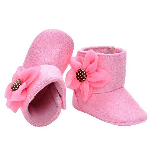 Ouneed® 2-14 mois Bebe Naissance Chausson Botte Premier pas Chaussure (11, Kaki) Rose