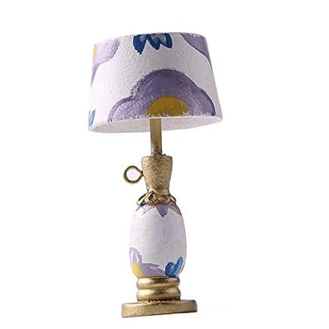 MagiDeal 1/12 Modèle Lampe de Table Mobilier Miniature Décoration pr Maison de Poupée #1