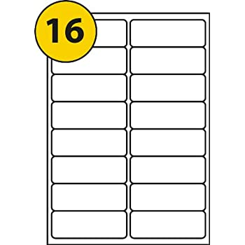 Inkjetlaser Avery Compatible Labels 16 Per Sheet J8162 L7162