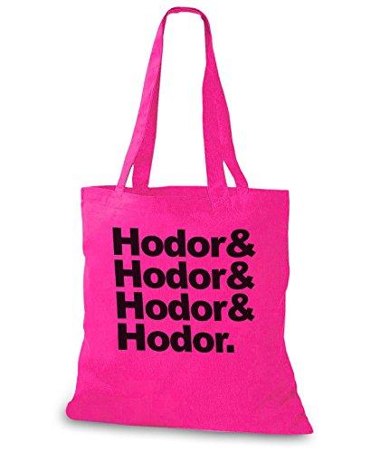 StyloBags Jutebeutel / Tasche Hodor, Hodor, Hodor & Hodor Pink