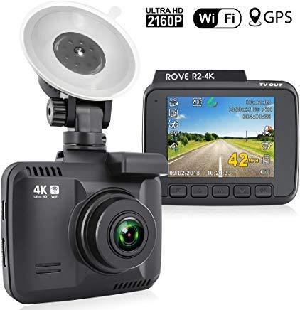 Dash Cam:: Rove R2-4K UltraHD 2160p + 6,1cm LCD 150° Weitwinkel mit Super Night Vision:: Car Dashboard Kamera Built in WiFi & GPS