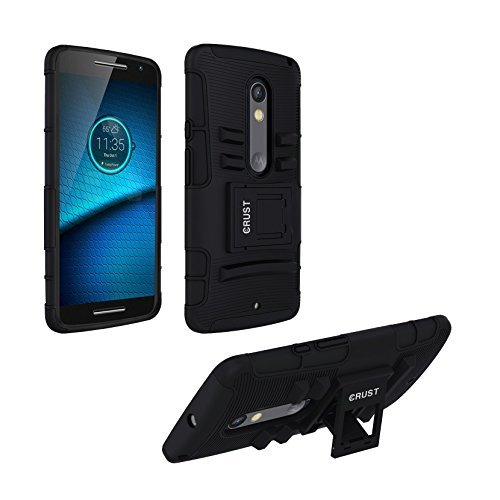 Moto X Play Cover, CRUST™ Armor Case For Motorola Moto X Play Shock Proof High Impact Kick Stand Dual Layer Hard/Soft Back Cover - Retail Packaging