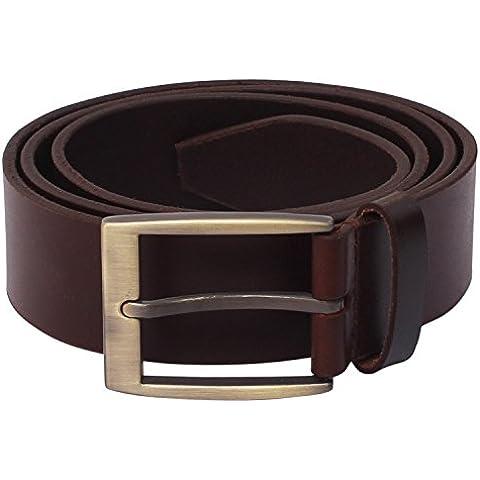 SouvNear 91cm Leather Men's Belt with a Metal Buckle Clasp