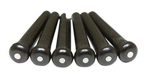 graph tech GT LP 2122 60 Tusq Bridge Pins Martin (2 mm, 60-Stück) schwarz-weiß dot (Pins Bridge Tusq)