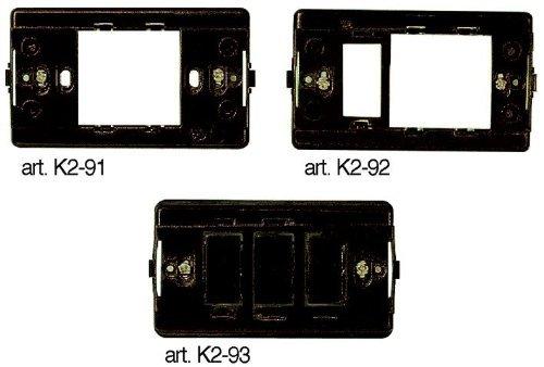 Supporto per Placca 2 Posti (Schuko +Magic) K2-92